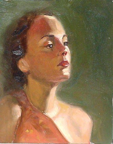 Art: Performer by Artist Debra Schott