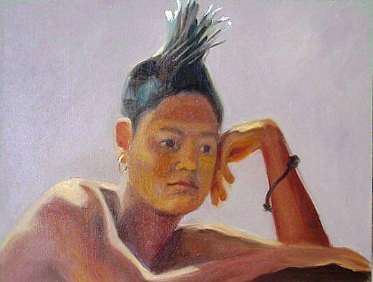 Art: Mohawk Punk  by Artist Debra Schott