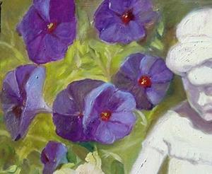 Detail Image for art Perky Plein-Air Potted Petunias
