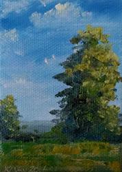 Art: Early Summer Trees, Kentucky, 2014 by Artist Kimberly Vanlandingham