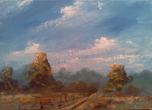 Art: Kentucky Field & Fence September 2013 by Artist Kimberly Vanlandingham