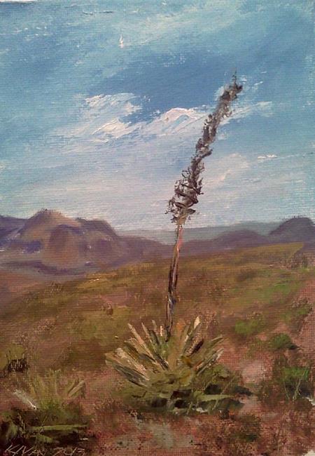 Art: Agave on South Kaibob Trail, Grand Canyon 2013 by Artist Kimberly Vanlandingham
