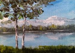 Art: Trees By The Water, 2014 by Artist Kimberly Vanlandingham