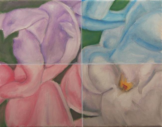 Art: Lilac Quartette by Artist Sandra Bordelon Butler