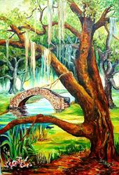 Art: New Orleans' City Park - SOLD by Artist Diane Millsap