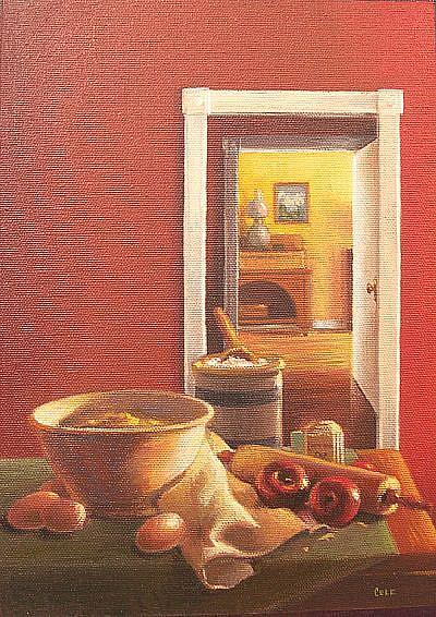 Art: Mom's Apple Pie by Artist Lauren Cole Abrams