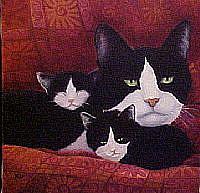 Art: Mama Cat by Artist Rosemary Margaret Daunis