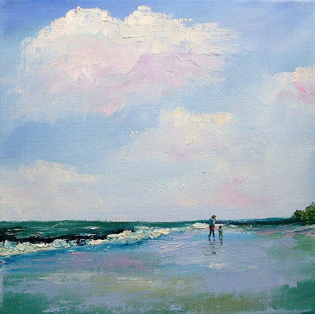 Art: First Walk On The Beach by Artist Kimberly Vanlandingham