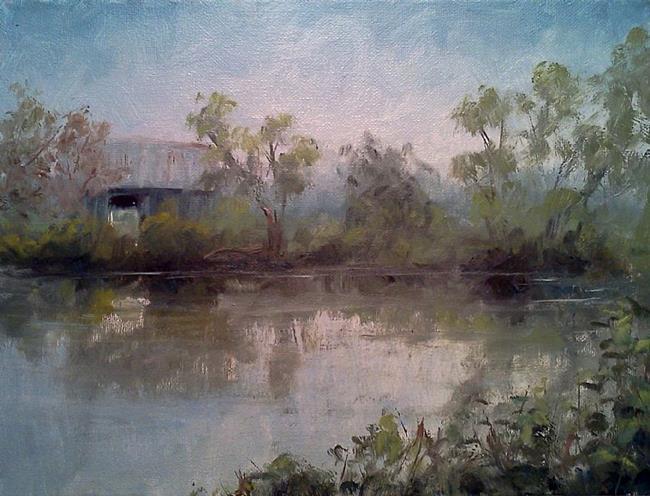 Art: Pond & Barn at Hailey Ridge Road, Bracken Co, KY 2013 by Artist Kimberly Vanlandingham