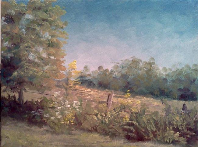 Art: Goldenrod at the fenceline, 2013 by Artist Kimberly Vanlandingham