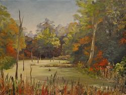 Art: Pond at Idlewild Park, Boone County KY, 2013 by Artist Kimberly Vanlandingham