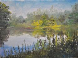 Art: Pond, Independence, KY 2013 by Artist Kimberly Vanlandingham
