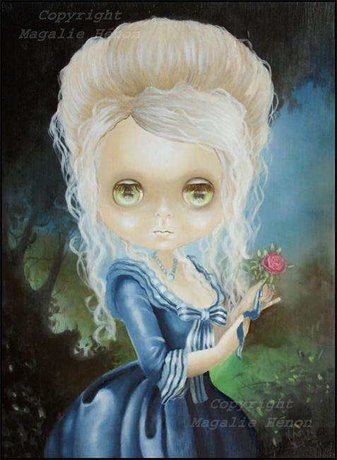 Lady lucielle by vyckie van goth from doll art artist made art gallery - Stijl van marie antoinette ...