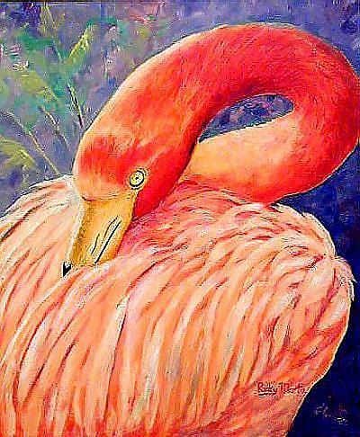Art: Flamingo - sold by Artist Ulrike 'Ricky' Martin