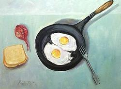 Art: Eat your eggs! by Artist Ulrike 'Ricky' Martin