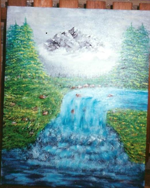 Art: Waterfall by Artist Nata Romeo ArtistaDonna
