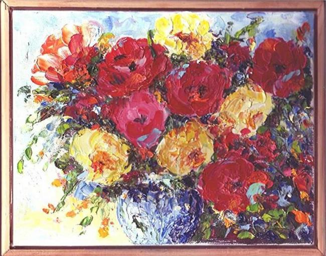 Art: Cabbage Roses by Artist Ulrike 'Ricky' Martin