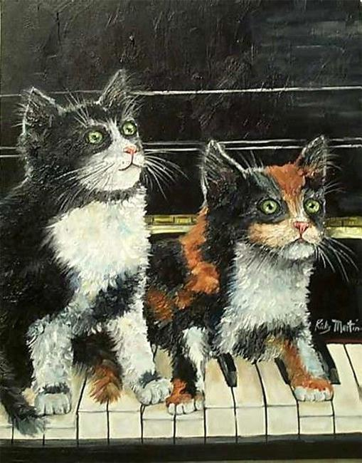 Art: Two Piano Players by Artist Ulrike 'Ricky' Martin