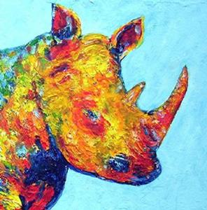 Detail Image for art Rhino ( available in my ebay store)