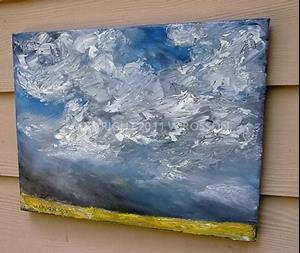 Detail Image for art Bright Yellow Field & Thunderstorm