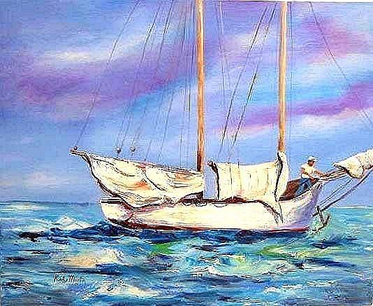Art: Gone Sailing by Artist Ulrike 'Ricky' Martin