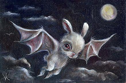 Art: Bunny Bat by Artist Vicky Knowles