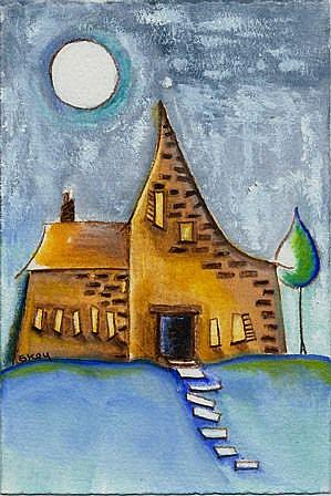 Art: This Old House-Sold by Artist Sherry Key