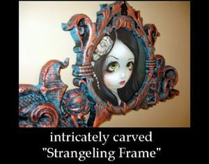 Detail Image for art Pale Green Eyes (with original Strangeling Frame)