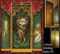 Art: Mandragora Triptych by Artist Jasmine Ann Becket-Griffith