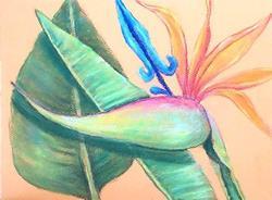 Art: BIRD OF PARADISE by Artist Ulrike 'Ricky' Martin