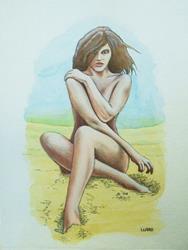 Art: BEACH BEAUTY by Artist  Bryan Ward