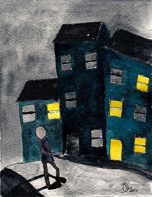 Art: WALKING MAN m105 by Artist Dawn Barker
