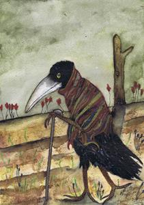 Detail Image for art WALKING CROW c134