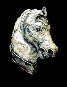 Detail Image for art Horse Head Sculpture