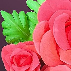Detail Image for art Only Paper Roses