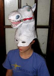 Art: Horse Head Mask by Artist Patience