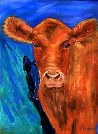 Art: Cows 2 by Artist Shoshana Avramovitz