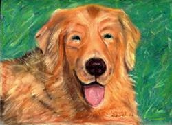 Art: Golden Retriever  Pete by Artist Shoshana Avramovitz