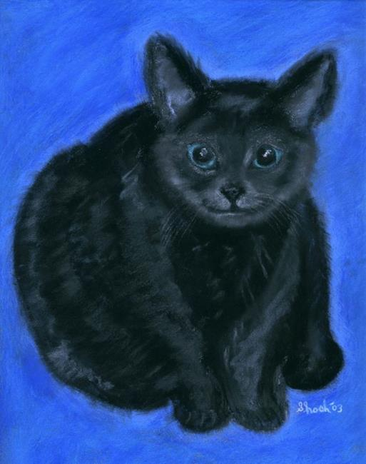 Art: Black Cat by Artist Shoshana Avramovitz