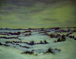 Art: DEEP SNOW IN WINTER by Artist Julie Jules