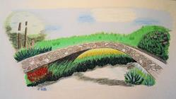 Art: Stone Bridge by Artist Dee Turner