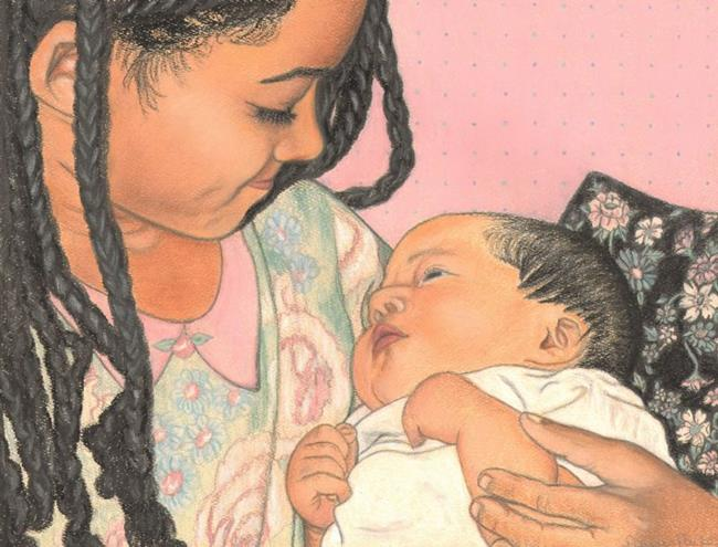 Art: Sisters Love by Artist Paula M Parker