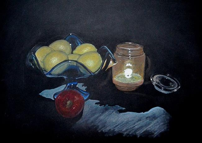 Art: Still Life with Lemons by Artist Amy J Hipple