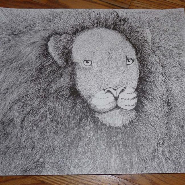 Art: Leone by Artist Nata Romeo ArtistaDonna