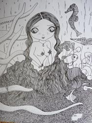 Art: Octo & Amy Sea Creatures by Artist Nata ArtistaDonna