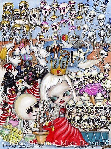 Art: Dark Little Dearies #19 - 12 Days of Christmas by Artist Misty Monster (Benson)