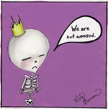 Art: Dark Little Dearies #12 - We Are Not Amused by Artist Misty Monster (Benson)