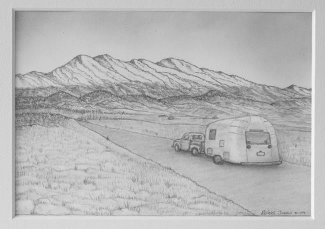 Art: Airstream 1960 by Artist Revere J