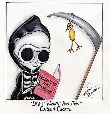 Art: Dark Little Dearies #11 - Skeleton Grim Reaper Art by Artist Misty Monster (Benson)
