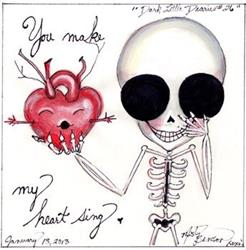 Art: Dark Little Dearies 26 - Skeleton Art Day of the Dead Valentine by Artist Misty Benson